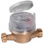 Water meter and meter valve