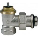Thermostatic angled radiator valve
